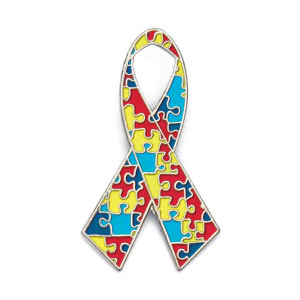 Autism Awareness Ribbon Lapel Pin