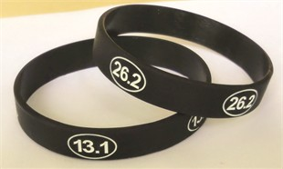 26.2 Marathon and 13.1 Half Marathon Wristbands