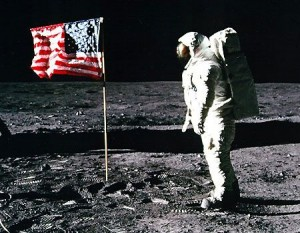 Flag on the Moon Buzz Aldrin