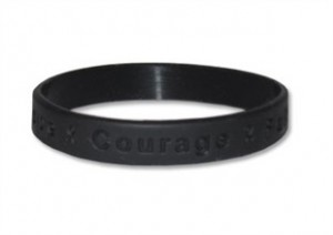 Black Awareness Wristband - Hope Courage Faith
