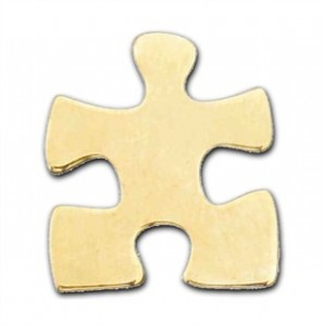 Gold Autism Awareness Puzzle Piece Lapel Pin