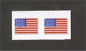 Embroidered USA American Flag Stick Ons