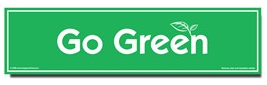 Go Green Environmental Car Magnet