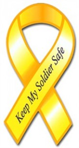 Keep My Soldier Safe Yellow Ribbon Magnet