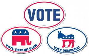 Voting Bumper Sticker Decals