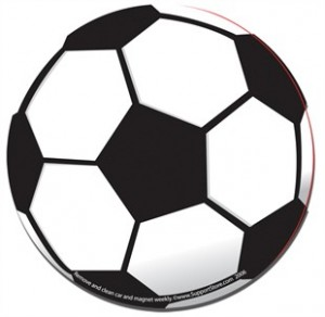 Soccer Ball Car Magnet
