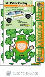 St. Patrick's Day Car Magnet Sets