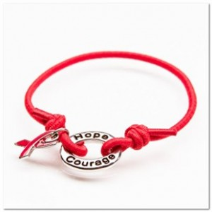 Red Awareness Stretch Bracelet