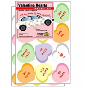 Valentine's Day Heart Car Magnets
