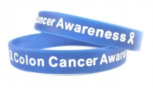 Colon Cancer Awareness Rubber Wristband