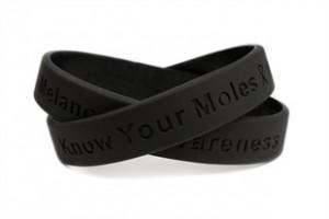 Melanoma Awareness Rubber Wristband