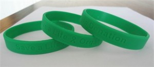 Organ Donor Awareness Wristbands