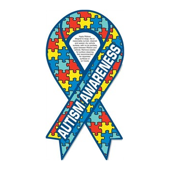 Autism Awareness Ribbon Magnet