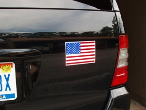 "4"" x 6"" American Flag Car Magnet"