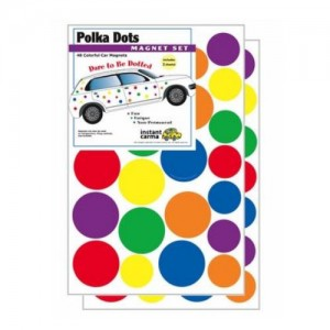 Multi Color Polka Dot Car Magnet Set