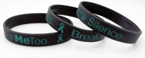#metoo - break the silence wristband