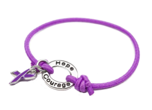 Purple Stretch Charm Bracelet