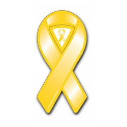 Mini Yellow Ribbon Magnet
