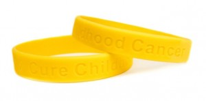Childhood Cancer Awareness Gold Wristband