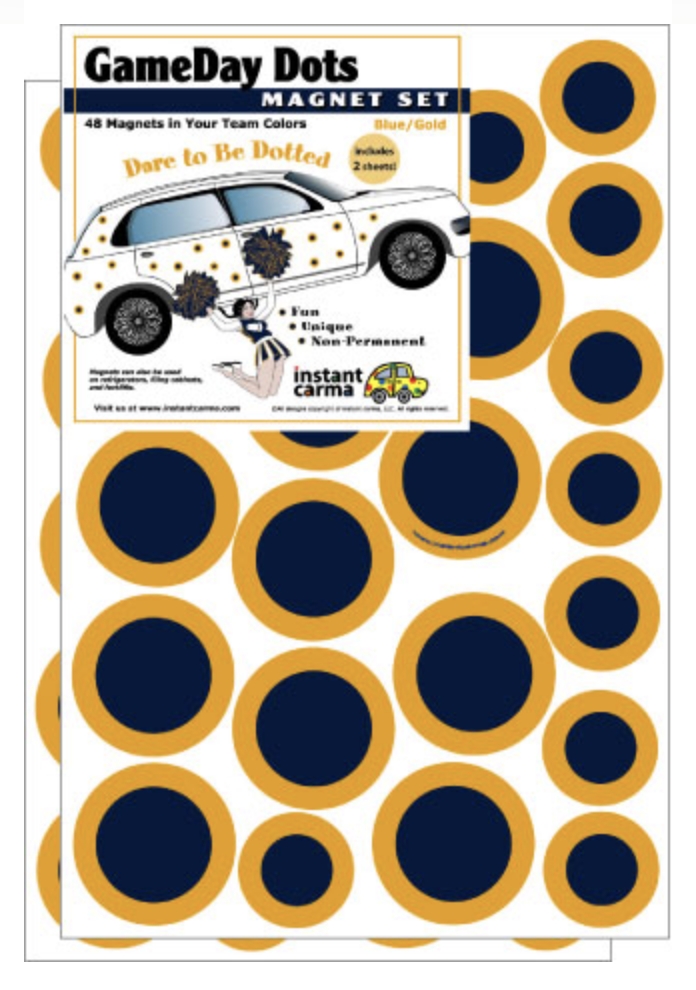 Game Day Dots School Spirit Magnets
