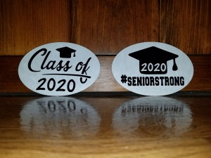 Oval Bumper Sticker Magnet Graduation Craft