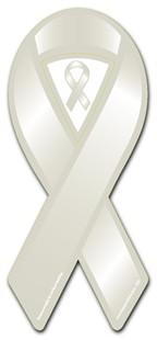 Gray Awareness Ribbon Magnet