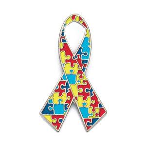 Autism Awareness Ribbon Lapel Pin