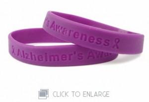 Alzheimer's Awareness Wristbands