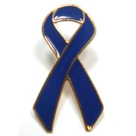 Blue Ribbon Lapel Pin