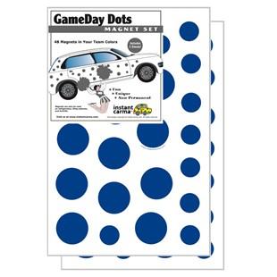 Blue & White Game Day Dot Car Magnet Set