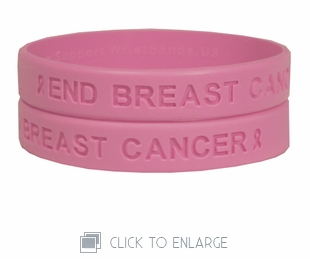 End Breast Cancer Pink Wristband