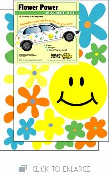 Flower Power Car Magnet Set