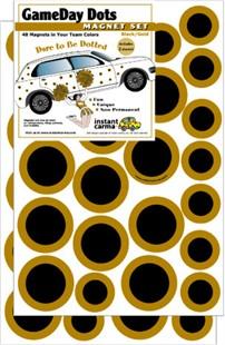 Gold & Black Game Day Dot Car Magnet Set