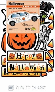 Halloween Car Magnet Set