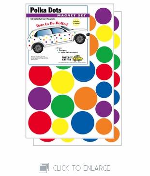 Multi Color Car Magnet Dots