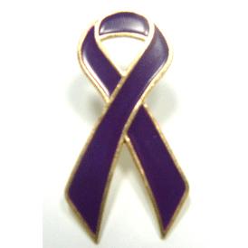 Purple Ribbon Lapel Pin