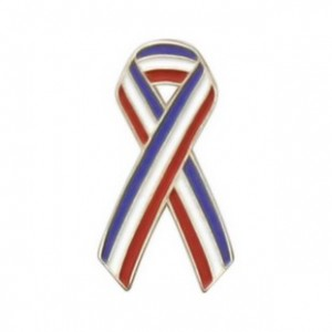Red White Blue Ribbon Lapel Pin