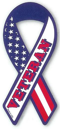 Veteran Ribbon Magnet