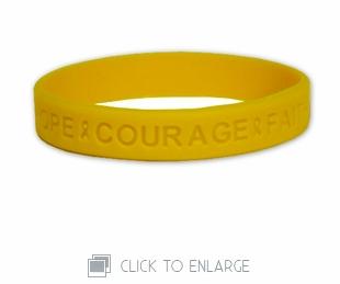 Yellow Hope Courage Faith Wristband