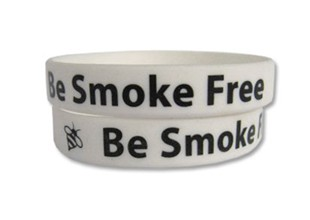 Be Smoke Free Rubber Wristband