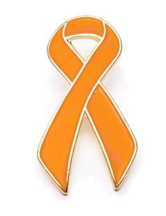Orange Awarenss Ribbon Lapel Pin