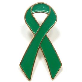 Green Ribbon Awareness Lapel Pin