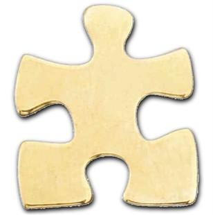 Autism Gold Puzzle Piece Lapel Pin