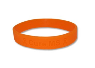 Cure MS Awareness Rubber Wristband