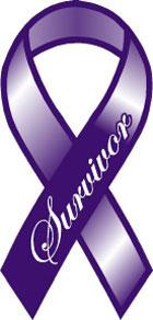 Cancer Survivor Ribbon Magnet