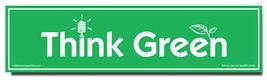 Think Green Environmental Car Bumper Magnet