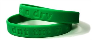 Don't Text and Drive Rubber Wristband