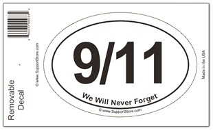 9/11 We Will Never Forget Decal