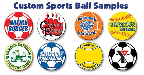 Customize Circle Sports Ball Magnets