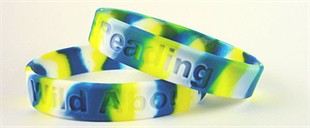 Wild About Reading Youth Size Rubber Wristband